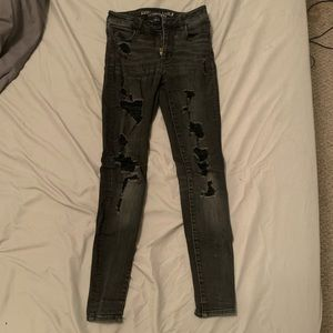 American Eagle Outfitters Ripped Hi-Rise Jeggings